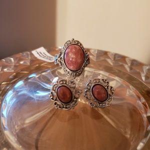 Jewelry - Norwegian Thulite Ring and Earrings